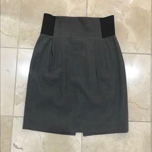 Grey pencil skirt BCBG